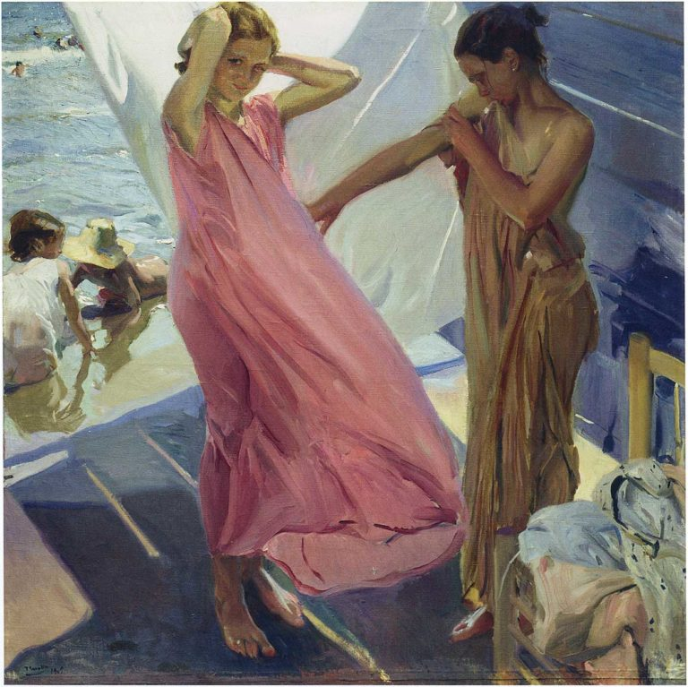 After the Bath Valencia | Joaquin Sorolla y Bastida | oil painting