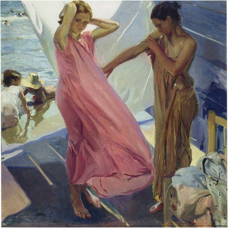 After the Bath Valencia | Joaquin Sorolla y Bastida | oil painting