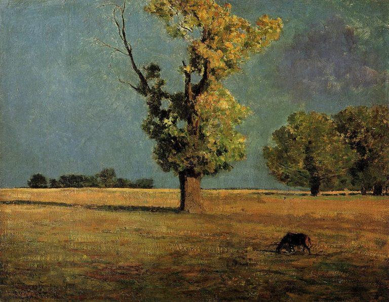 Peyrelebade Landscape | Odilon Redon | oil painting