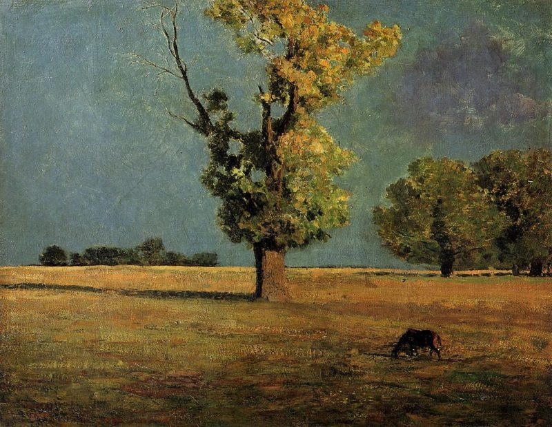 Peyrelebade Landscape   Odilon Redon   oil painting