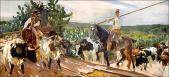 Andalusia The Round Up | Joaquin Sorolla y Bastida | oil painting