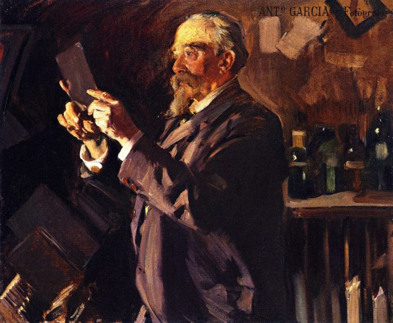 Antonio Garcia in his Laboratory | Joaquin Sorolla y Bastida | oil painting