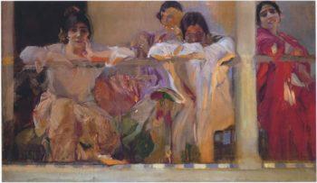 Artist's Patio Cafe Novedades Seville | Joaquin Sorolla y Bastida | oil painting