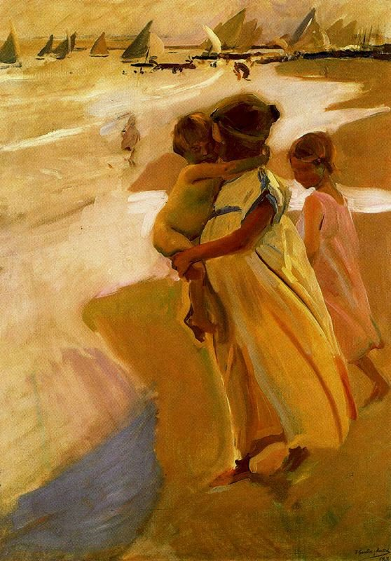 Bathing at Valencia | Joaquin Sorolla y Bastida | oil painting