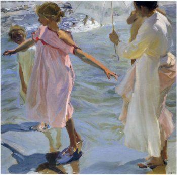 Bath time Valencia | Joaquin Sorolla y Bastida | oil painting