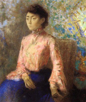 Portrait of Jeanne Chaine | Odilon Redon | oil painting