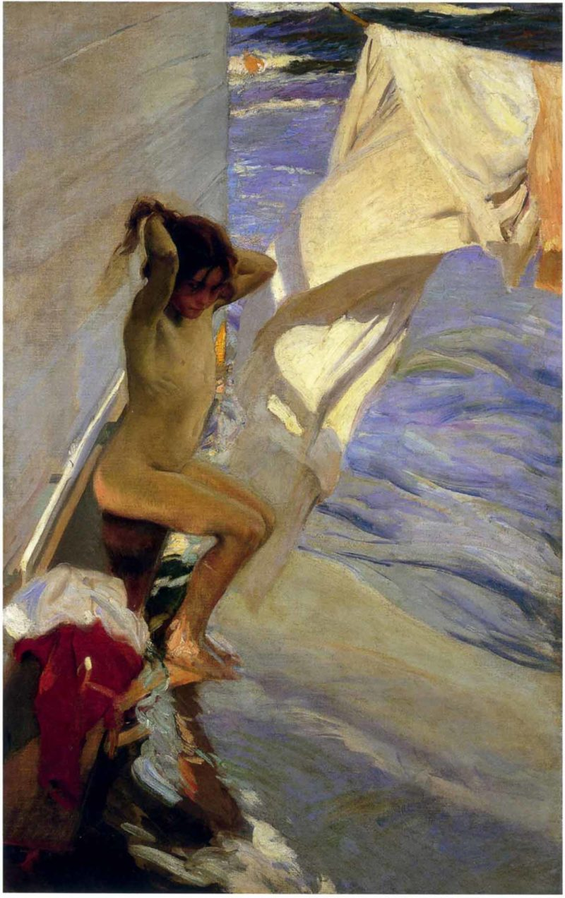 Before the Bath | Joaquin Sorolla y Bastida | oil painting