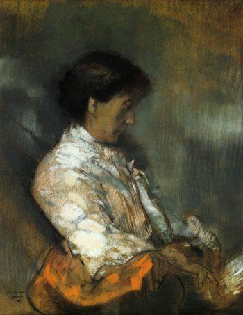 Portrait of Madame Redon | Odilon Redon | oil painting
