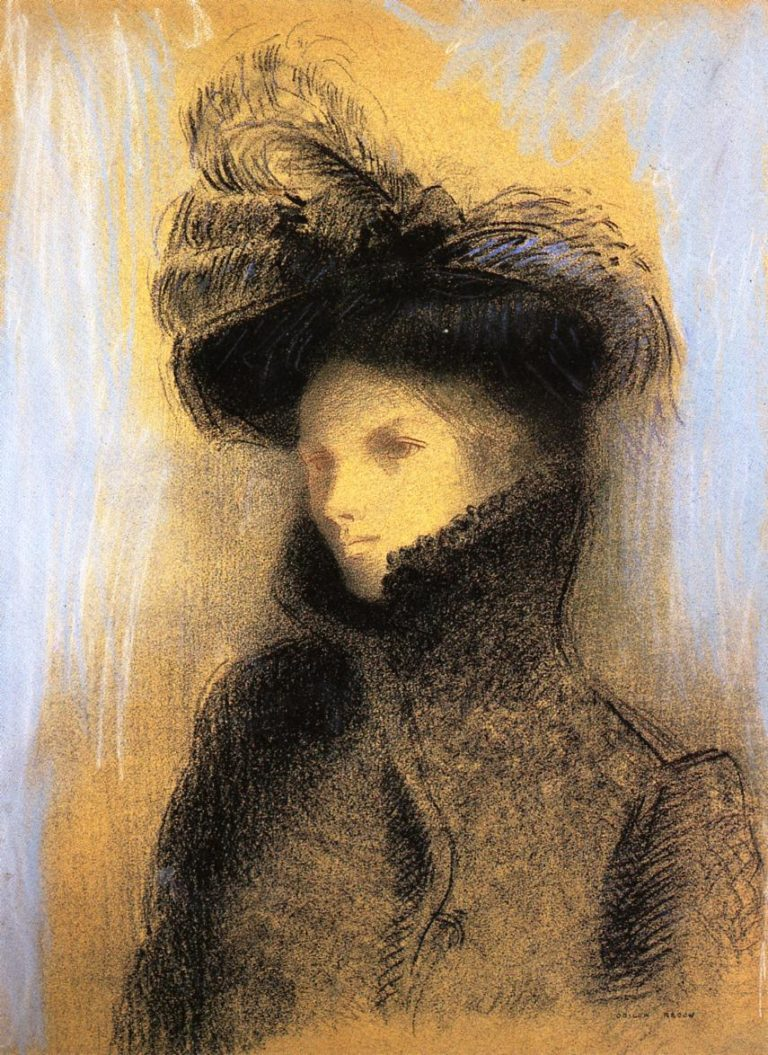Portrait of Marie Botkine | Odilon Redon | oil painting