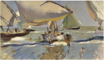Boats on the beach | Joaquin Sorolla y Bastida | oil painting