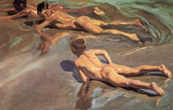 Boys on the Beach | Joaquin Sorolla y Bastida | oil painting