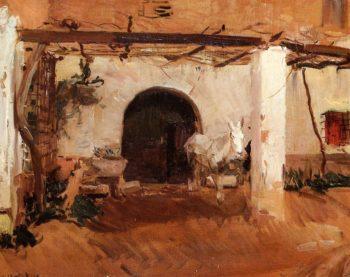 Casa de Huerta Valencia | Joaquin Sorolla y Bastida | oil painting