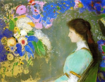 Portrait of Violette Heyman | Odilon Redon | oil painting