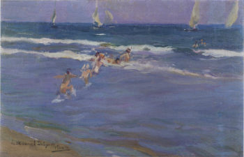 Children in the sea | Joaquin Sorolla y Bastida | oil painting