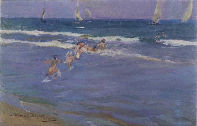 Children in the sea   Joaquin Sorolla y Bastida   oil painting