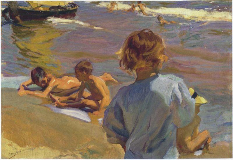 Children on the Beach Valencia | Joaquin Sorolla y Bastida | oil painting