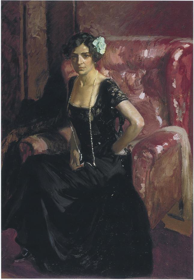 Clotilde in Evening Dress | Joaquin Sorolla y Bastida | oil painting
