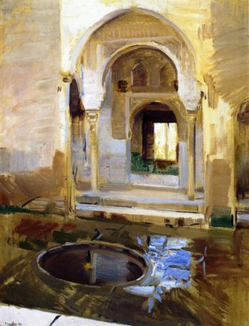 Courtyard of Justice The Alhambra Granada | Joaquin Sorolla y Bastida | oil painting