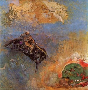 Roger and Angelica | Odilon Redon | oil painting