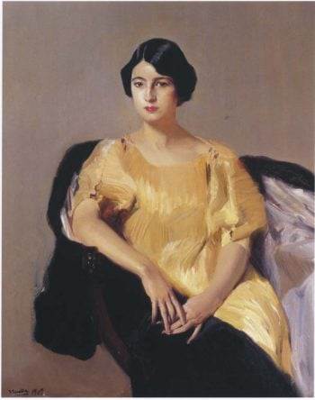 Elena in a yellow tunic | Joaquin Sorolla y Bastida | oil painting