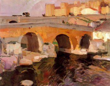 El Puente Viejo de Avila | Joaquin Sorolla y Bastida | oil painting