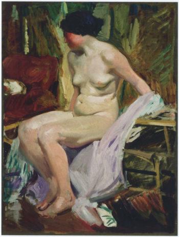 Female nude | Joaquin Sorolla y Bastida | oil painting
