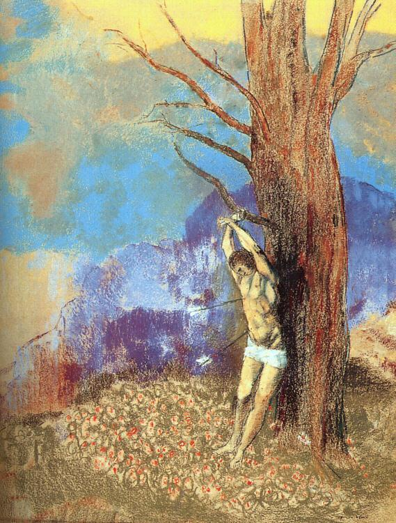Saint Sebastian   Odilon Redon   oil painting
