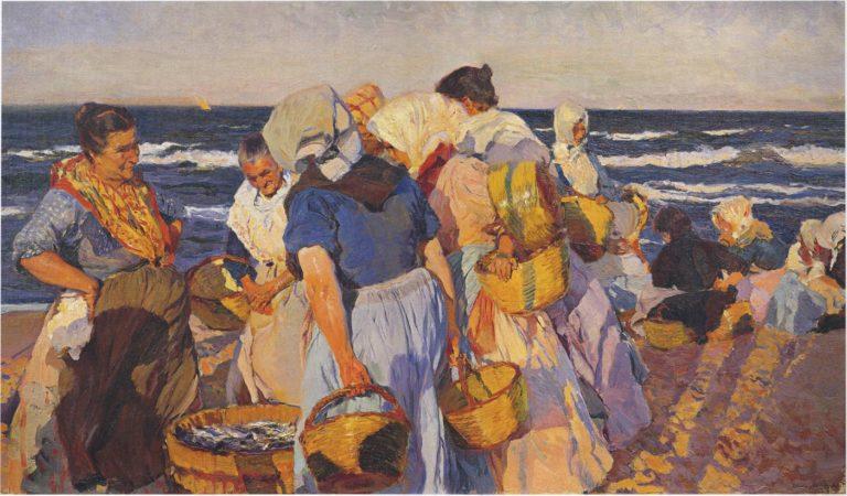 Fisherwomen | Joaquin Sorolla y Bastida | oil painting