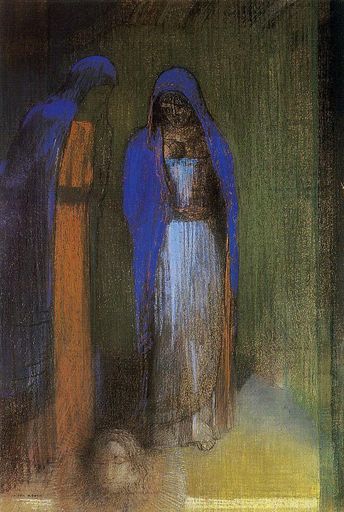 Salome   Odilon Redon   oil painting