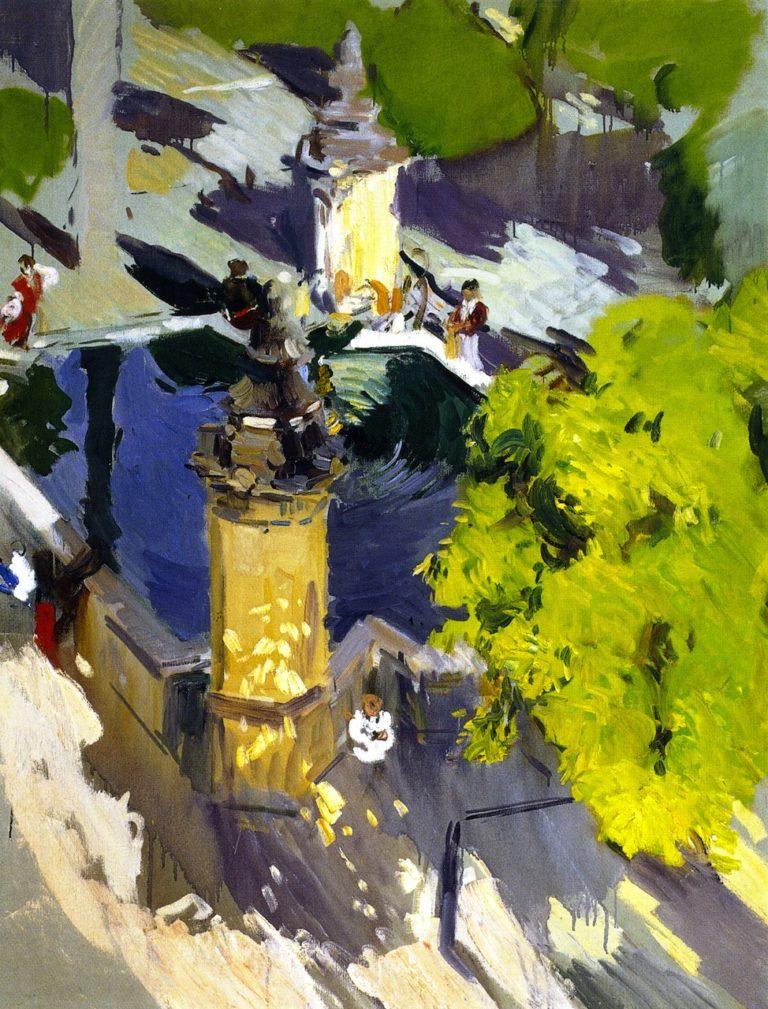 Fountain of the Mosque Cordoba   Joaquin Sorolla y Bastida   oil painting
