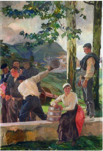 Game of Skittles | Joaquin Sorolla y Bastida | oil painting