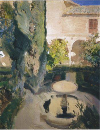 Garden of Lindaraja | Joaquin Sorolla y Bastida | oil painting