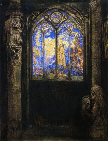 Stained Glass Window | Odilon Redon | oil painting