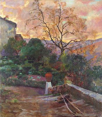 Garden of Spanish Farmhouse | Joaquin Sorolla y Bastida | oil painting