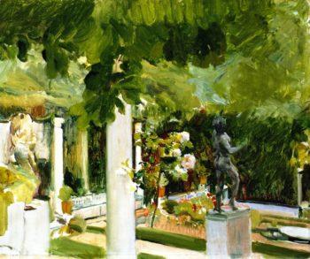 Garden of the Sorolla House | Joaquin Sorolla y Bastida | oil painting