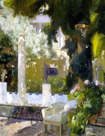 Garden of the Sorolla House | Joaquin Sorolla y Bastida | oil painting