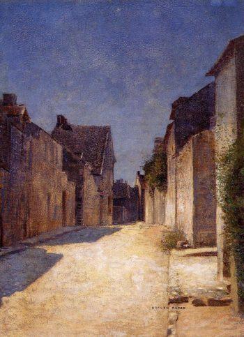 Street in Samois   Odilon Redon   oil painting