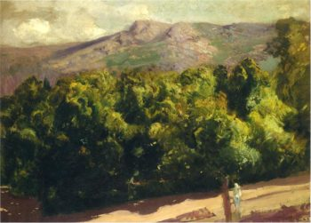 Gardens at San Ildefonso | Joaquin Sorolla y Bastida | oil painting