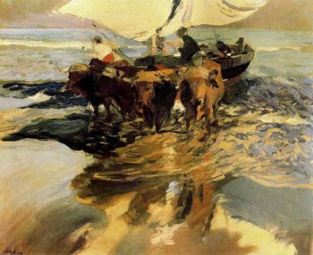 In Hope of the Fishing | Joaquin Sorolla y Bastida | oil painting