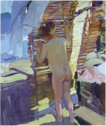 Inquisitive child   Joaquin Sorolla y Bastida   oil painting