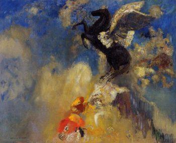 The Black Pegasus | Odilon Redon | oil painting