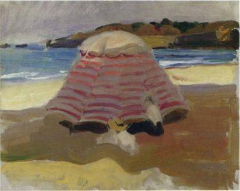 La Playa de Biarritz | Joaquin Sorolla y Bastida | oil painting