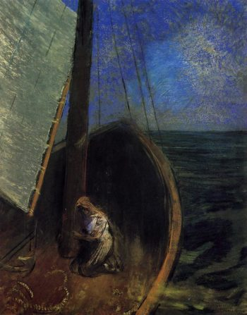 The Boat 1 | Odilon Redon | oil painting