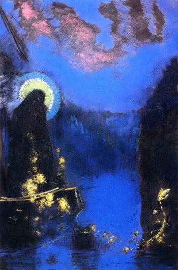 The Boat   Odilon Redon   oil painting