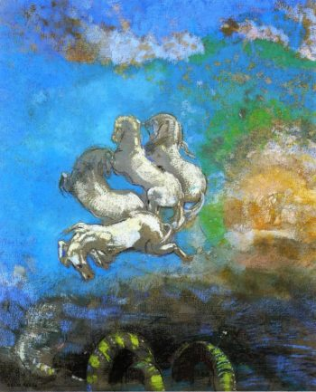 The Chariot of Apollo   Odilon Redon   oil painting