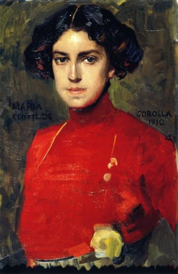 Maria in a Red Blouse | Joaquin Sorolla y Bastida | oil painting