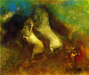 The Chariot of Apollo | Odilon Redon | oil painting