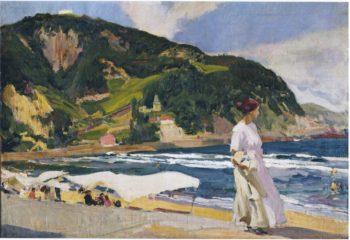 Maria on the beach Zarauz | Joaquin Sorolla y Bastida | oil painting