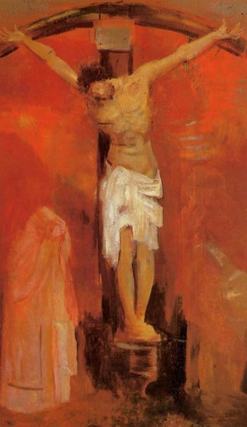 The Crucifixion | Odilon Redon | oil painting