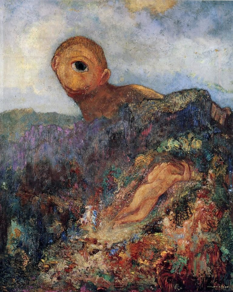 The Cyclops | Odilon Redon | oil painting